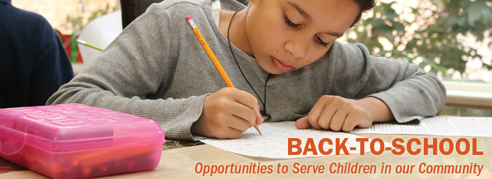 Back-to-school web banner