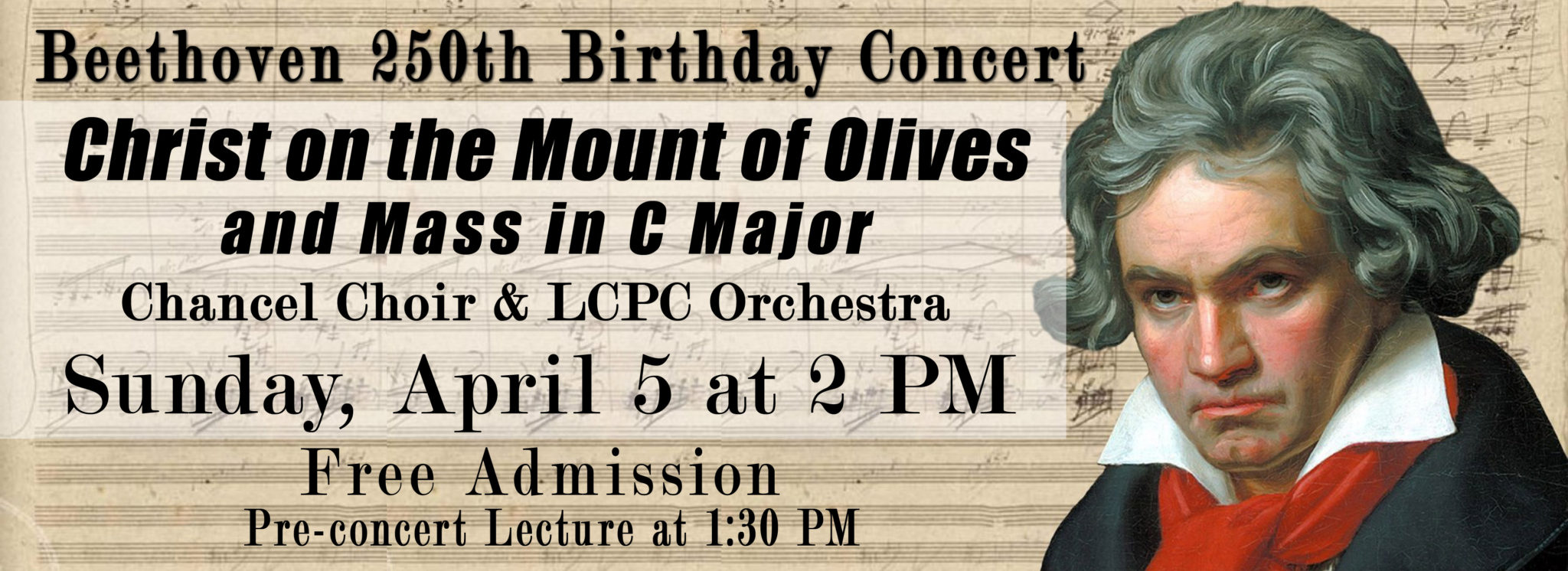 Ovations Event: Christ on the Mount of Olives & Mass in C Major