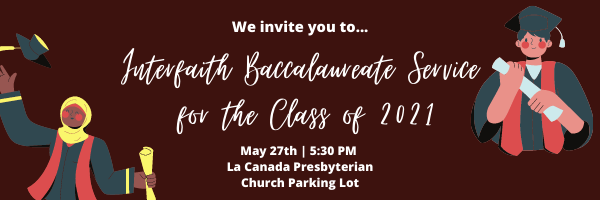 Interfaith Baccalaureate for the Class of 2021